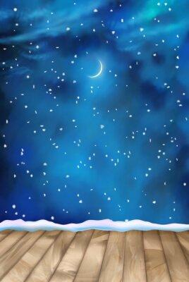 Quadro Vector invernali Nightly nuvole Sfondo