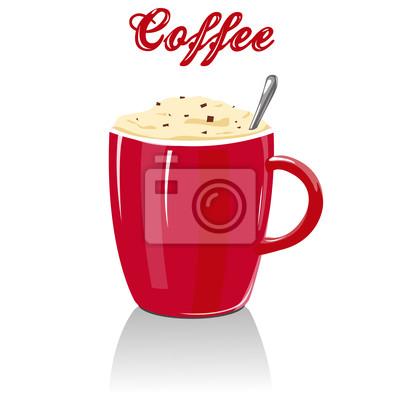Vector pieno tazza di caffè dipinti da parete • quadri di più ... eae81d1a0c0