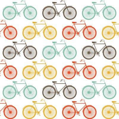 Quadro Vector Seamless Con Le Biciclette