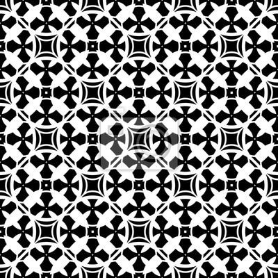 Vector Seamless Pattern Vettoriale Sfondo Bianco E Nero