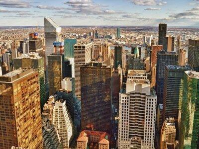 Quadro Veduta aerea della città di New York.