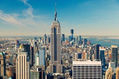 Quadro Veduta aerea di Manhattan