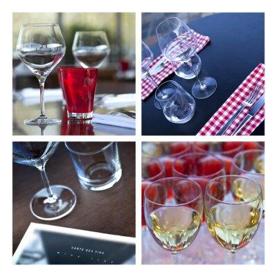 Quadro Verre, Verrerie, vin, tavolo, Couvert, bar, brasserie, grotta