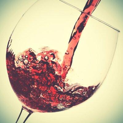 Quadro Versamento di vino rosso