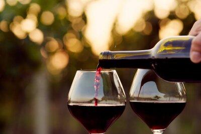 Quadro Versare il vino rosso