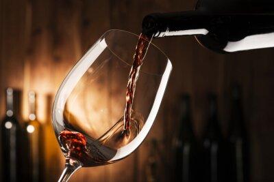Quadro vetro con vino rosso