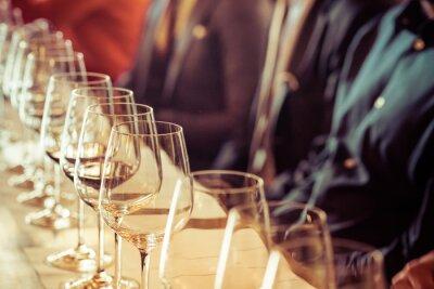 Quadro Vetro per degustazione di vini