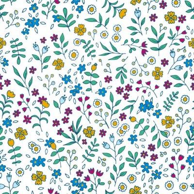 Quadro Vettore colorato motivo floreale senza soluzione