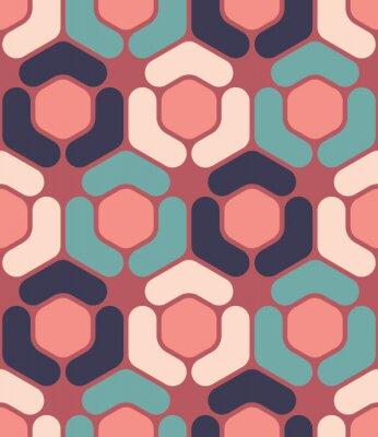 Quadro Vettore moderno senza soluzione di continuità modello colorato geometria esagonale, colore di sfondo astratto geometrica, cuscino di stampa multicolore, retro tessitura, design di moda pantaloni a vit