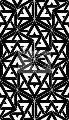 Quadro: Vettore moderno senza soluzione di modello geometria sacra, stampa