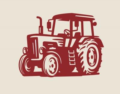 Quadro vettore Simbolo del trattore