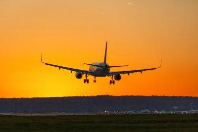Quadro Viaggio di viaggio di vacanza di vacanza di tramonto del sole dell'aeroporto delle terre piane