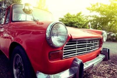 Quadro vicino faro-up colorato di auto d'epoca