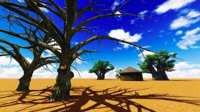 Quadro Villaggio africano