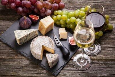 Quadro Vino e formaggio