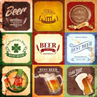 Quadro vintage banner beer