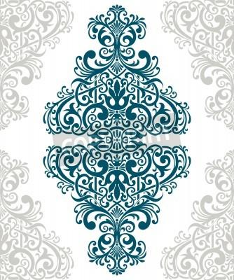Quadro vintage baroque border frame card cover flower motif arabic retro pattern ornate