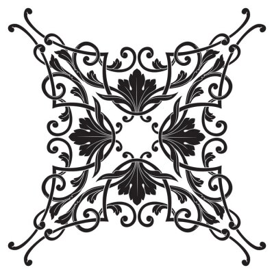 Quadro Vintage cornice barocca incisione cartiglio