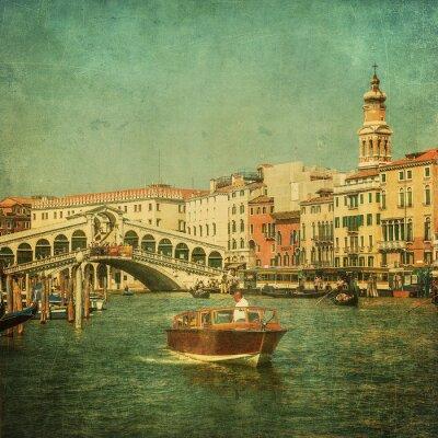 Quadro Vintage immagine di Grand Canal, Venezia