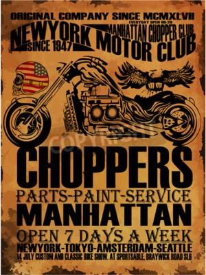 Quadro Vintage Motorcycle T-shirt con stampa grafica