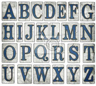 Quadro Vintage New Orleans Via Campagna Alphabet Collection