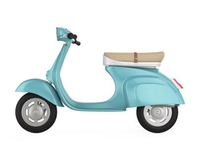 Quadro Vintage Retro Scooter Isolato