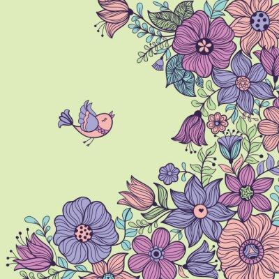 Quadro Vintage seamless floreale. Illustrazione vettoriale.