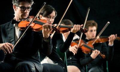 Quadro Violino performante orchestra