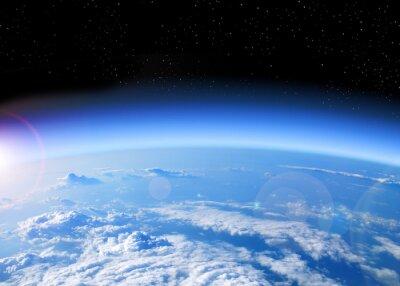 Quadro vista della Terra dallo spazio
