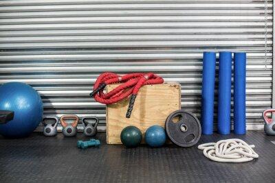 Quadro Vista di attrezzature per il fitness