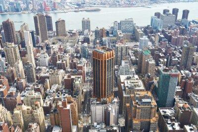 Quadro Vista di paesaggio urbano di Manhattan