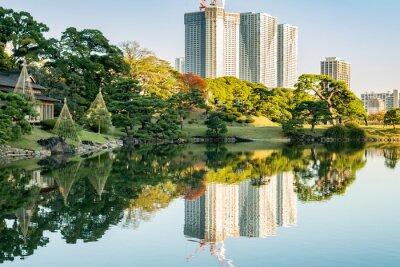 Quadro Vista di Tokyo paesaggio urbano con parco