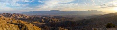 Quadro Vista panoramica del paesaggio desertico