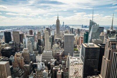 Quadro Vista skyline di New York City Manhattan midtown edifici