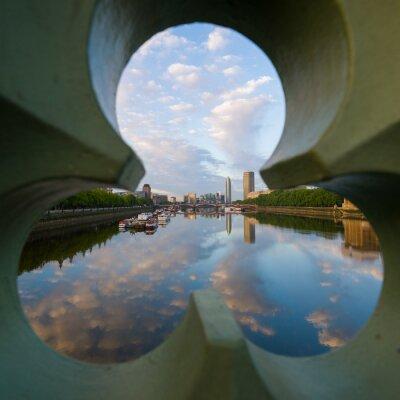 Quadro vista sul fiume Tamigi a Londra