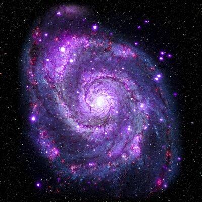 Quadro Visualizza immagine di sistema Galaxy elementi di questa immagine fornita dalla NASA isolato