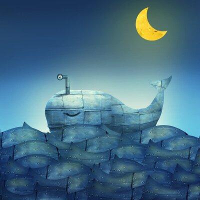 Quadro Whale in Blue