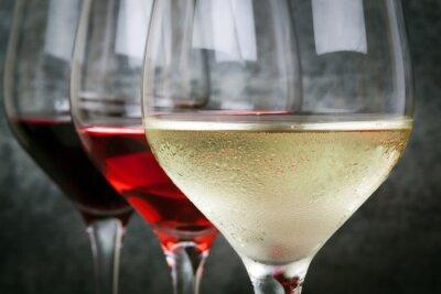 Quadro White Rose e vino rosso