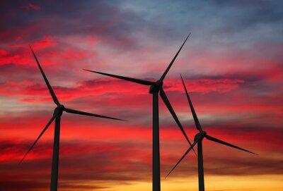 Quadro Wind generator turbines in sky