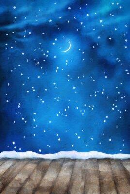 Quadro Winter Night Pittura Sfondo