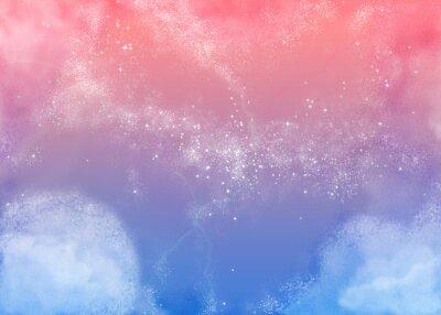 Quadro ふ わ ふ わ ピ ン ク の 空 Fluffy Rosa Sky