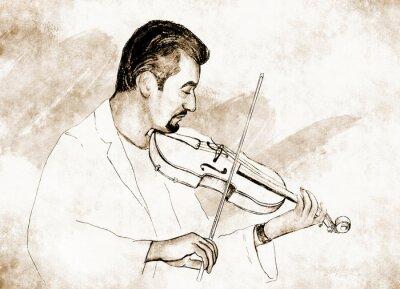 Quadro Рисунок-иллюстрация ,, ,, Скрипач.
