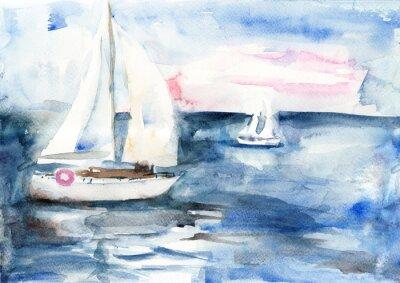 Quadro Le navi in mare