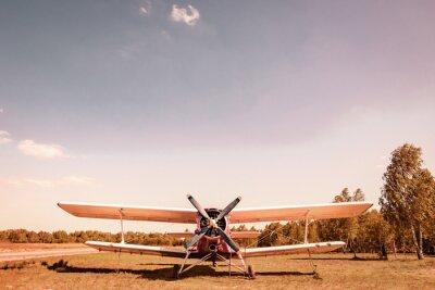 Quadro Vecchio aereo. Вiplane.