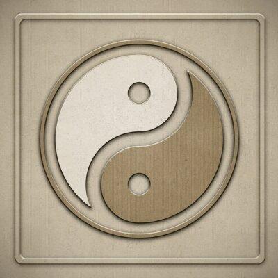 Quadro Yin Yang - carta - goffratura
