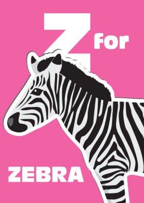 Quadro Z come Zebra, un alfabeto degli animali per i bambini