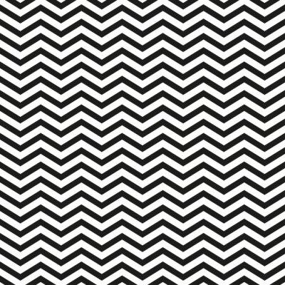 Quadro zig-zag con linee nere alla moda illustrazione